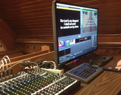 Video Streaming as St Johns Angilcan on vMix pc platform